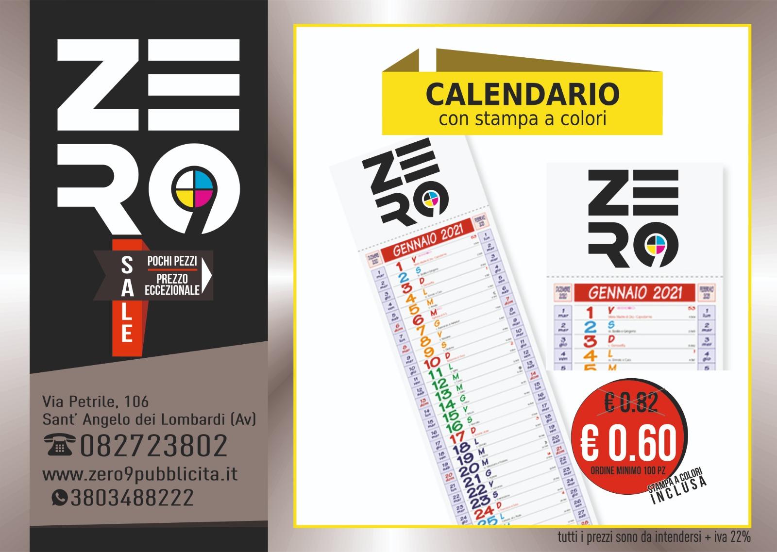 Calendario con stampa a colori